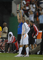 Los Angeles Galaxy midfielder David Beckham (23) entering the game in the second half. DC United defeated the Los Angeles Galaxy 1-0,  at RFK Stadium Washington DC, Thursday August 9, 2007.