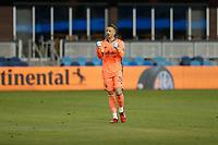 SAN JOSE, CA - SEPTEMBER 19: Aljaz Ivacic #31 of the Portland Timbers celebrates during a game between Portland Timbers and San Jose Earthquakes at Earthquakes Stadium on September 19, 2020 in San Jose, California.