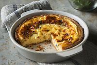 Gastronomie: Quiche au Roquefort // Gastronomy: Roquefort quiche [Non destiné à un usage publicitaire - Not intended for an advertising use]