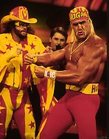 Randy Savage Macho Man Hulk Hogan 1995<br /> Photo By John Barrett/PHOTOlink