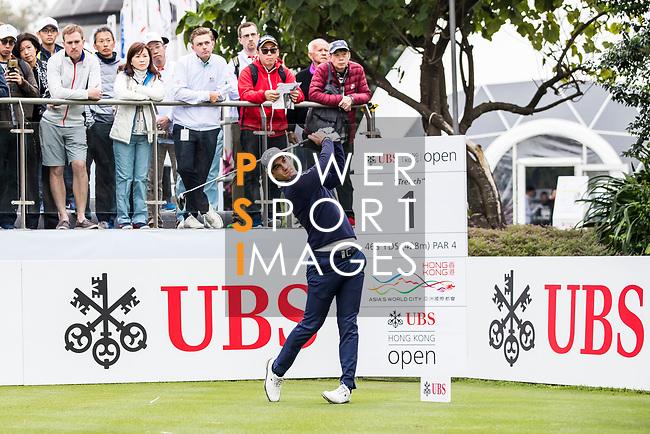 Matteo Manassero of Italy tees off during the day three of UBS Hong Kong Open 2017 at the Hong Kong Golf Club on 25 November 2017, in Hong Kong, Hong Kong. Photo by Yu Chun Christopher Wong / Power Sport Images
