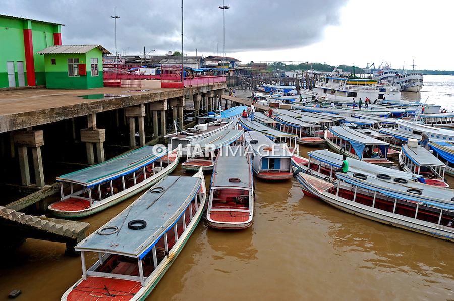 Rio Amazonas e area portuaria de Santana. Amapa. 2012. Foto de Reinaldo Minillo.