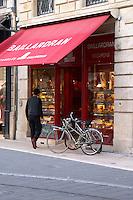Baillardran canele shop on Cours de l'Intendance. Bordeaux city, Aquitaine, Gironde, France