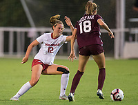 Hawgs Illustrated/BEN GOFF <br /> Kayla McKeon of Arkansas in the second half vs Texas A&M Thursday, Sept. 20, 2018, at Razorback Field in Fayetteville.