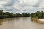 Canarana, Mato Grosso State, Brazil. Cluene river near to the location of the Paranatinga II hydroelectric dam.