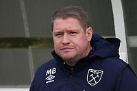 West Ham manager Matt Beard during West Ham United Women vs Arsenal Women, Women's FA Cup Football at Rush Green Stadium on 26th January 2020