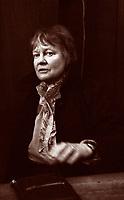 Iris Murdoch, è stata una filosofa,  scrittrice britannica, libri, cultura inglese. È conosciuta per le sue storie su temi filosofici, etici, e sessuali. Nata in Irlanda. Milano, 13 novembre 1986. Photo by Leonardo Cendamo