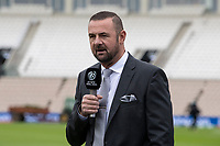 Simon Doulll presents his morning piece for the TV during India vs New Zealand, ICC World Test Championship Final Cricket at The Hampshire Bowl on 22nd June 2021