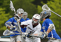 Bronxville Broncos vs Fordham Prep Rams Boys Lacrosse at Murphy Stadium on the Fordham University campus, Bronx, NY, Saturday, May 9, 2015.  The Rams defeated the Broncos by the score of 10 - 3.