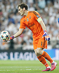 Real Madrid's Iker Casillas during Champions League 2014/2015 Semi-finals 2nd leg match.May 13,2015. (ALTERPHOTOS/Acero)