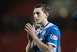 St Johnstone v Stenhousemuir…21.01.17  McDiarmid Park  Scottish Cup<br />Blair Alston applauds the fans at full time<br />Picture by Graeme Hart.<br />Copyright Perthshire Picture Agency<br />Tel: 01738 623350  Mobile: 07990 594431