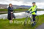 Linda Woods ready to hit the road on her 240k cycle fundraiser for Comfort for Chemo, which is going ahead on May 1st standing with Mary Fitzgerald of Comfort For Chemo