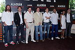 04.05.2012. Presentation at the Hotel Me Madrid in the film ´Alacrán Enamorado´ directed by Santiago A. Zannou produced by Alvaro Longoria and with actors Carlos Bardem, Javier Bardem, Miguel Angel Silvestre, Alex Gonzalez and Judith Diakhate. In the image Javier Bardem, Carlos Bardem, Alvaro Longoria,  Alex Gonzalez, Santiago A. Zannou,  Judith Diakhate and Miguel Angel Silvestre (Alterphotos/Marta Gonzalez)