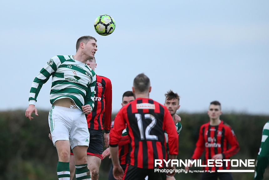 Danny O' Donaghue of Nenagh during the Munster Junior Cup 4th Round at Tower Grounds, Thurles, Co Tipperary on Sunday 28th January 2018, Photo By: Michael P Ryan