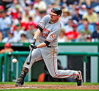 24 May 2009: Baltimore Orioles' first baseman Aubrey Huff in action during the fifth inning against the Washington Nationals at Nationals Park in Washington, DC. The Nationals rallied to defeat the Orioles 8-5 and salvage a win in their interleague series. Mandatory Credit: Ed Wolfstein Photo