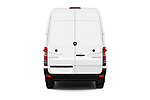 Straight rear view of 2017 Mercedes Benz Sprinter Base 4 Door Cargo Van stock images