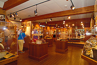 Tourists view artifacts and photographs of Lahaina's Historic whaling industry at one of two free whaling museums in Whalers Village at the Kaanapali Resort area. Lahaina, from 1820-1860, was the whaling capital of the world.