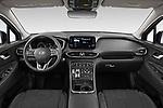 Stock photo of straight dashboard view of 2021 Hyundai Santa-FE SEL 5 Door SUV Dashboard