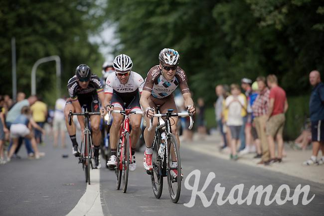 Jan Bakelants (BEL/Ag2r-LaMondiale) ahead of Stijn Devolder (BEL/Trek Factory Racing)<br /> <br /> Belgian Championships 2015