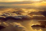 Aerial of Kenepuru Sound in the Marlborough Sounds Regionof of New Zealand.