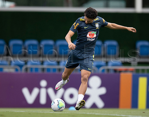 12th November 2020; Granja Comary, Teresopolis, Rio de Janeiro, Brazil; Qatar 2022 World Cup qualifiers; Marquinhos of Brazil during training session