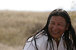 A Native American Indian Male Portrait smiling and laughing