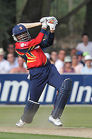 Harbhajan Singh in batting action for Essex - Essex Eagles vs Netherlands - Clydesdale Bank 40 Cricket at Castle Park, Colchester - 19/08/12 - MANDATORY CREDIT: Gavin Ellis/TGSPHOTO - Self billing applies where appropriate - 0845 094 6026 - contact@tgsphoto.co.uk - NO UNPAID USE.