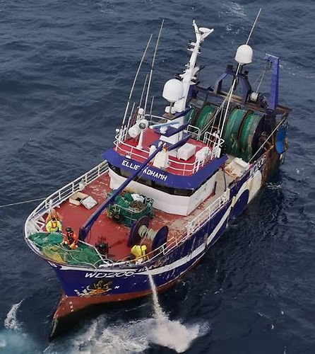 The fishing vessel ELLIE ADHAMH at the centre of a rescue operation has sunk. The vessel suffered a loss of power and was being towed towards Bantry by the Naval ship LE George Bernard Shaw. The vessel suffered a loss of power approximately 70 miles West of Bantry Bay on Friday morning and had been adrift.