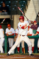 Turner Clouse #22 of the USC Trojans bats against the Arizona State Sun Devils at Dedeaux Field on April 12, 2013 in Los Angeles, California. USC defeated Arizona State, 5-0. (Larry Goren/Four Seam Images)