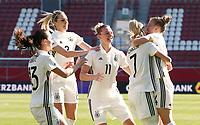 Sara Daebritz, Lena Goessling, Alexandra Popp, Lea Schueller 1:0, Leonie Maier    celebration   1:0<br /> /   World Championships Qualifiers women women /  2017/2018 / 07.04.2018 / DFB National Team / GER Germany vs. Czech Republic CZE 180407065 / <br />  *** Local Caption *** © pixathlon<br /> Contact: +49-40-22 63 02 60 , info@pixathlon.de