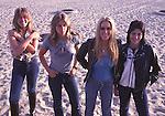 Runaways 1978 Vicki Blue, Sandy West, Lita Ford, Joan Jett..© Chris Walter..