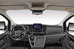 Stock photo of straight dashboard view of 2021 Ford Tourneo-Custom Active 5 Door Passenger Van Dashboard