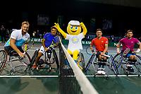 Rotterdam, The Netherlands, 14 Februari 2020, ABNAMRO World Tennis Tournament, Ahoy, <br /> Wheelchair Doubles: Stephane Houdet (FRA) and Nicolas Peifer (FRA), Alfie Hewett (GBR) and Gordon Reid (GBR).<br /> Photo: www.tennisimages.com