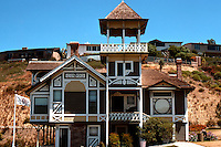 """San Diego: Sherman-Gilbert House, 1889. """"Cottage Victorian relating to the Italianate Bracketed""""  (Photo 1978)"""