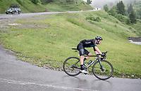 Soren Kragh Andersen (DEN/DSM) descending the Col de la Colombière (1618 m)<br /> <br /> Stage 8 from Oyonnax to Le Grand-Bornand (151km)<br /> 108th Tour de France 2021 (2.UWT)<br /> <br /> ©kramon