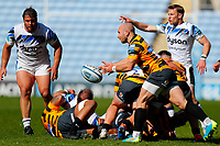 25th April 2021; Ricoh Arena, Coventry, West Midlands, England; English Premiership Rugby, Wasps versus Bath Rugby; Dan Robson of Wasps moves the ball from the base of a ruck