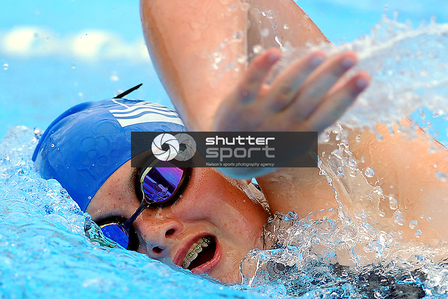 Motueka`s Emma White during the Swimming club champs. Motueka High School, Motueka, Nelson, New Zealand. Saturday 8 December 2012. Credit Chris Symes/www.shuttersport.co.nz