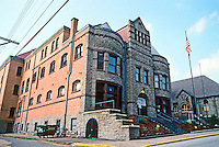 Pittsburgh: Braddock, The Carnegie Library of Braddock, 1889. A gym, a pool and baths as well as books. Photo 2001.