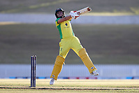 4th April 2021; Bay Oval, Taurange, New Zealand;  Australia's Ash Gardner hits a six during the 1st women's ODI White Ferns versus Australia Rose Bowl cricket match at Bay Oval in Tauranga.