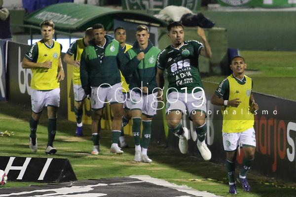 Campinas (SP), 06/08/2021 - Guarani-Brasil de Pelotas - Bidu comemora gol do Guarani. Partida entre Guarani e Brasil de Pelotas válida pelo Campeonato Brasileiro da Série B no estádio Brinco de Ouro na noite desta sexta-feira (06).