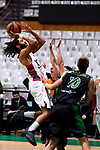 Liga ENDESA 2019/2020. Game: 07.<br /> Club Joventut Badalona vs TD Systems Baskonia: 83-82.<br /> Pierria Henry, Ferran Bassas & Vladimir Brodziansky.