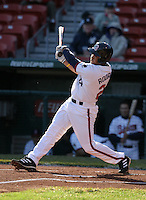 April 8, 2005:  Outfielder John Rodriguez of the Buffalo Bisons during a game at Dunn Tire Park in Buffalo, NY.  Buffalo is the International League Triple-A affiliate of the Cleveland Indians.  Photo by:  Mike Janes/Four Seam Images