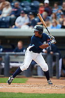 West Michigan Whitecaps catcher Franklin Navarro (12) at bat during a game against the Cedar Rapids Kernels on June 7, 2015 at Fifth Third Ballpark in Comstock Park, Michigan.  West Michigan defeated Cedar Rapids 6-2.  (Mike Janes/Four Seam Images)