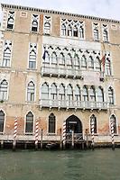 La facciata della Ca' Foscari a Venezia.<br /> View of the Ca' Foscari, in Venice.<br /> UPDATE IMAGES PRESS/Riccardo De Luca