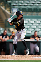 Pittsburgh Pirates left fielder Chris Sharpe (68) at bat during a Florida Instructional League game against the Baltimore Orioles on September 22, 2018 at Ed Smith Stadium in Sarasota, Florida.  (Mike Janes/Four Seam Images)