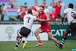 Fiji vs Canada during their Quarter-finals match as part of the HSBC Hong Kong Rugby Sevens 2017 on 09 April 2017 in Hong Kong Stadium, Hong Kong, China. Photo by Weixiang Lim / Power Sport Images