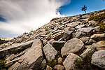 Granite rock slope on the western slope of the Sierra Nevada, in the Sierra National Forest, California