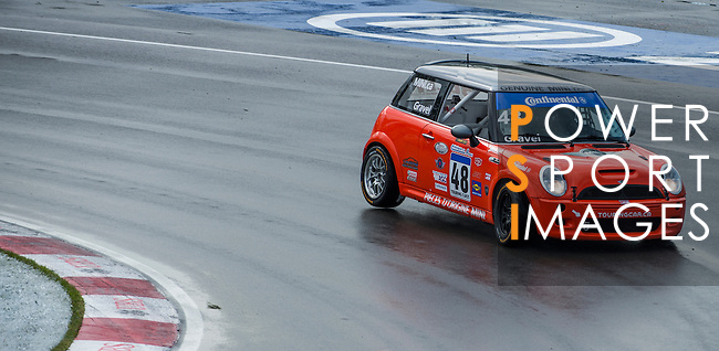 Team Octane driver Paul Gravel speeds his Mini Cooper car during the CTCC official practice race ahead the F1 Grand Prix du Canada at the Circuit Gilles-Villeneuve on June 08, 2012 in Montreal, Canada. Photo by Victor Fraile / The Power of Sport Images