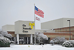 Huntsville Times building in snow on Christmas Day Dec. 25, 2010.  Bob Gathany Photographer
