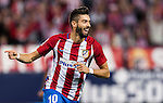 Yannick Ferreira Carrasco of Atletico de Madrid celebrates after scoring during their La Liga match between Atletico de Madrid and Granada CF at the Vicente Calderon Stadium on 15 October 2016 in Madrid, Spain. Photo by Diego Gonzalez Souto / Power Sport Images